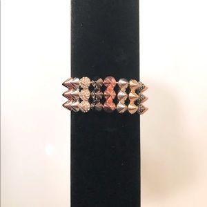 LIKE NEW Bracelet with Spikes & Rhinestones